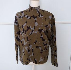 Anthropologie olive-green mock neck sweater EUC MP